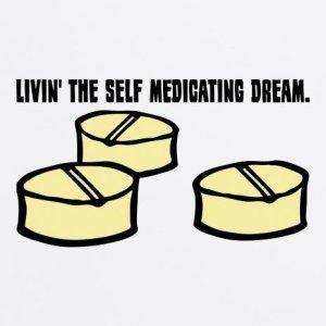 Writing and self medication go together like...