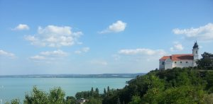 The majestic church in Tihany above Balaton