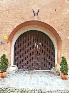 Door to death... the doorway to the ghetto